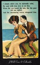 "Old Comical Postcard ""I simply Adore You, He Earnestly Cried """