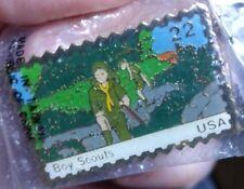 Vintage 1985 (JG&A) Boy Scouts USA Stamp Pin Metal Gold Tone Jonathan Grey