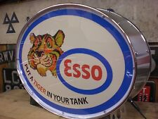 Esso, cimeli automobilistici, petrolania, Olio, Carburante, Tigre, MANCAVE, Lightup Sign, Garage, Officina