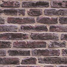 Rouge rustique Mur De Brique Papier Peint-J34408 Ugepa