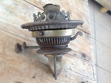 Vintage Duplex No 2 Brass Oil Lamp Double Burner with Wicks and Gallery .Working