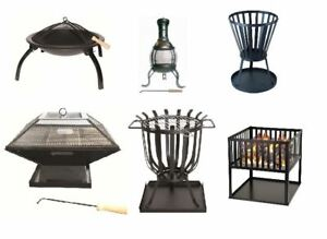 FIRE PIT FOLDING GARDEN FIRE PIT CAMPING PATIO HEATER LARGE LOG BURNER BBQ NEW