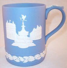 Wedgwood Blue Jasperware Mug Cup Tankard Piccadilly Circus Christmas 1971