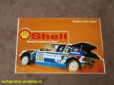1988 PEUGEOT 205 Turbo, Paris-Dakar SHELL - Sticker/Aufkleber