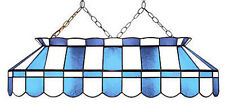 "Light Blue Baby Blue and White 40"" Stained Glass Pool Table Light-NEW"