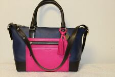 NWT AUTHENTIC COACH LEGACY COLORBLOCK MOLLY SATCHEL FUCHSIA NAVY 21134