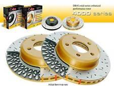 DBA 4000 XS DRILLED&SLOTTED REAR SET BRAKE ROTORS 2003-2005 G35 350Z NON-BREMBO