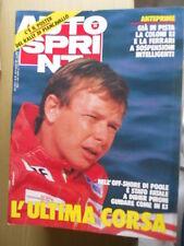 Autosprint 35 1987 poster del Rally di Piancavallo