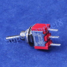 6PC Red Mini Toggle Switch SPDT ON-ON Guitar Amp 3Pin PCB Audio HIFI Tube Amp
