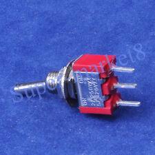 100pcs Red Mini Toggle Switch SPDT ON-ON Guitar Amp 3Pin PCB Audio HIFI Tube Amp