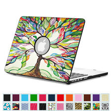 Premium Vegan Leather Coated Hard Shell Protective Case Cover For Apple MacBook