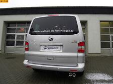 FOX Edelstahl Komplettanlage VW Bus T5 T6 4motion 2 x 80mm mit Absorber
