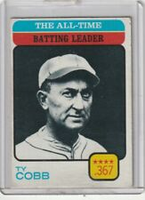 1973 Topps #475 Ty Cobb/All-Time Batting Leader