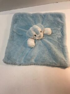 Blankets & Beyond Blue Puppy Dog Security Blanket Lovey Plush - Blue Ears