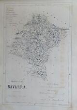 NAVARRA,  MAPA ORIGINAL, 1867