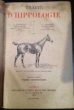 JACOULET - CHOMEL Traité d'Hippologie TWO VOLUMES 1900