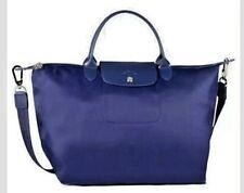 NWOT  Longchamp NEO Le Pliage  NAVY Tote Bag Detachable Shoulder Strap Medium