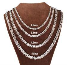 Königskette Halskette Rund Yassi Model Massiv 925 Echt Silber Ø2,8 - Ø5,2mm NEU