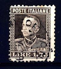 ITALIA - Regno - 1927 - Effigie di Vittorio Emanuele III° - 1,75 bruno