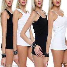 2-4-6-8-10er Pack Unterhemden Frauen Baumwolle Damen Unterwäsche Weiß Schwarz