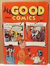 All Good Comics 1 GORGEOUS HI GRADE 1946 FOX COMIC VF/VF+ WHITE Pages! Blinding!