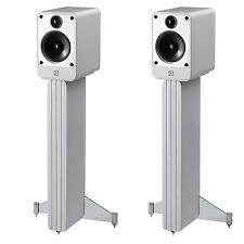 Q Acoustics Concept 20 Bookshelf Speaker Pair with Stands (Gloss White)