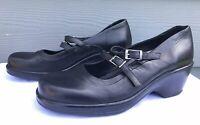 Dansko Babette Women's Black Double Strap Mary Jane Sandals US 11.5-12 / EU 42