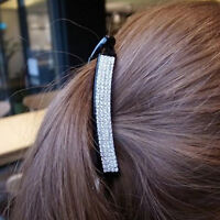 Women Crystal Rhinestone Banana Barrette Hair Clip Hairpin Hair Acces Fashion