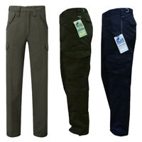 "Mens Blue Castle Combat Workwear Work Cargo Army Trousers Pants Combats 29"" 32"""