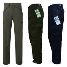 "Mens Blue Castle Combat Workwear Work Cargo Army Trousers Pants Combats 29"" 32"""
