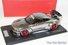 Nissan LB Work R35 GT Wing Chrome w/ Display Case One Model 1/18