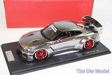 Nissan LB Work R35 GT Wing Chrome w/ Display Case One Model 1/18 - No MR BBR