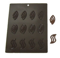 Flexible Chocolate Mold: 3 Designs, 4 of Each