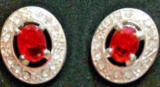 """July Earrings Ruby Red Stud """"Born Beautiful"""""""