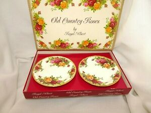 c.1962-1973 England Royal Albert Old Country Roses Empire Sweet Dishes In Box