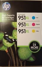 3-PACK HP GENUINE 951XL Color Ink *NEW & SEALED*