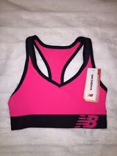 New Balance Clothing Womens NB Pace Sports Bra  Alpha Pink Size X-small