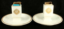 Lamberton Scammell Match Holder Ashtray Pair Hotel Dennis Atlantic City Artifact