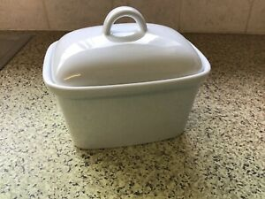 Maxwell & Williams Butter Dish, Porcelain, Modern Design, White,