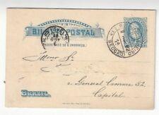 1892 Rio de Janeiro Brazil  40R Postal Stationery Card, Local