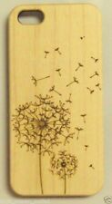 PHONE CASE COVER SHELL IPHONE 5 5s ENGRAVE CARVED DANDELION WOOD WOODEN BAMBOO