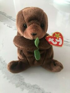 Retired Ty Beanie Baby Seaweed the Otter RARE Mint Condition Multiple Tag Errors