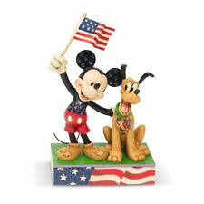 Disney Traditions 6005975 A Banner Day Mickey and Pluto Patriotic Figurine