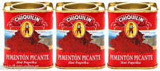 3 Tins Chiquilin Hot Paprika, Pimenton Picante, 3x75g Gluten Free