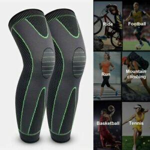 Knee Support Brace Compression Long Full Legs Sleeve Arthritis Running Gym Sport