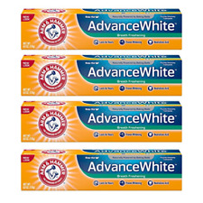 Arm & Hammer Advance White Breath Freshening Toothpaste, 6 oz, 4 Pack