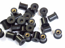 25 Pack Screen Fairing Rubber Well Nuts Kawasaki Ninja ZX Quad Bike 92015-1757