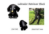 Colgante Cuero Llavero Piel Hombre Mujer Labrador Retriever Negro