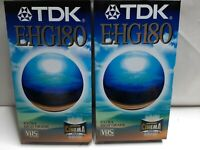 TDK BLANK VIDEO TAPE  Extra High Grade 180- TDK EHG 180min PALSecam NEW