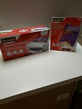 Scotch Thermal Laminator With 50 Pack Laminating Pouches Tl901 Pre Owned